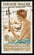 POLYNESIE 1958 - Yv. PA 1 Obl.   Cote= 5,00 EUR - Graveur Sur Nacre ..Réf.POL22113 - Poste Aérienne