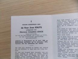 Doodsprentje Jean Knuts Diepenbeek 13/4/1909 - 16/12/1974 ( Josephina Jouck ) - Religion & Esotérisme