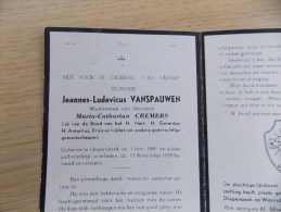 Doodsprentje Joannes Ludovicus Vanspauwen Diepenbeek 1/6/1880 - 13/11/1955 ( Maria Catharina Cremers ) - Religion & Esotérisme