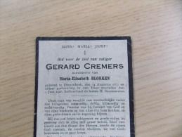 Doodsprentje Gerard Cremers Diepenbeek 14/8/1857 - 1/6/1926 ( Maria Elisabeth Blokken ) - Religion & Esotérisme