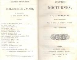 CONTES NOCTURNES PAR E.-T.-A. HOFFMANN TRADUIT DE L'ALLEMANDE PAR E. DE LA BEDOLLIERRE TOME TROISIEME PARIS GUSTAVE BARB - Boeken, Tijdschriften, Stripverhalen
