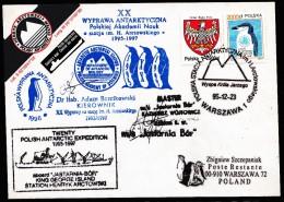 ANTARCTIC,POLEN/POLSKA, XX. Research-Expedition 1996, 8 Cachets+ Sign Captain+Leader , Look Scan !! 2412-29 - Antarctische Expedities