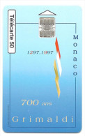 MONACO   -- 700 Ans GRIMALDI 1297 - 1997   Tirage 100.000 Ex. - Monaco