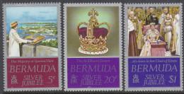 BERMUDA, 1977 QUEENS JUBILEE 3 MNH - Bermuda