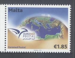 MALTA, 2014, MNH, JOINT ISSUE, EUROMED POSTAL, 1v - Gezamelijke Uitgaven