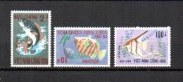 Vietnam   1971  .-   Y&T Nº   407/409      ( **   Sin Goma  ) - Vietnam