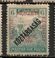 Timbres - Hongrie - Territoires - Szeged - 1919 - 6 F. - - Szeged