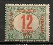 Timbres - Hongrie - Territoires - Szeged - 1919 - Taxe - 12 F. - - Szeged
