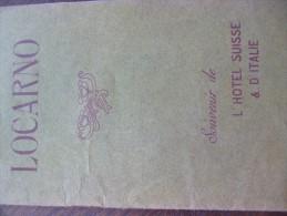 Plaquette Touristique  Illustrée Locarno Souvenir De L´Hotel Suisse D´Italie - Tourisme