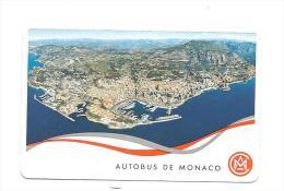 CARTE D´ABONNEMENT AUTOBUS De MONACO - Abonnements Hebdomadaires & Mensuels
