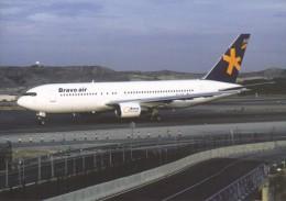 BRAVO AIR, Boeing 767-219ER, Unused Postcard [15077] - 1946-....: Moderne