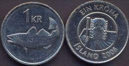 Iceland 1 Krona 2006 UNC - Iceland