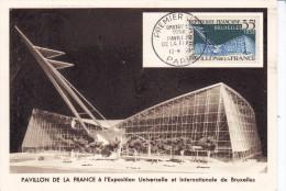 Exposition Bruxelles, Carte Maximum N 1156, Pavillon De France
