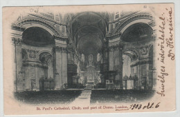 United Kingdom England London St Paul´s Cathedral Choir Dome Red Cross Hospital 1903 Post Card Postkarte POSTCARD - St. Paul's Cathedral