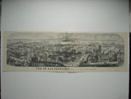 GRAVURE 1869. ETATS-UNIS............... VUE DE SAN-FRANCISCO................... - Stiche & Gravuren