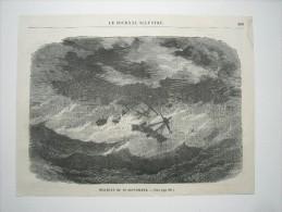GRAVURE 1869. OURAGAN DU 12 SEPTEMBRE................ ... - Prints & Engravings