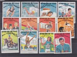 Jeux Olympiques - Sports - Cyclisme - Natation - Ahtlétisme - Hippisme - Médailles -Tchad - Série Oblitéré De 1968 - Zomer 1968: Mexico-City