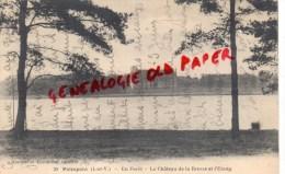 35 -  PAIMPONT - EN FORET - LE CHATEAU DE LA BROSSE ET L' ETANG - Paimpont