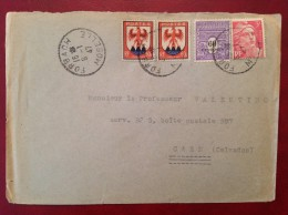 Lettre Cad FORBACH (blason Gandon Arc De Triomphe) 1947 - 1921-1960: Période Moderne