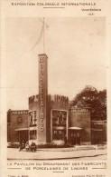 LE PAVILLON DU GROUPEMENT DES FABRICANTS DE PORCELAINES DE LIMOGES EXPOSITION COLONIALE DE VINCENNES 1913 - Limoges