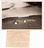 Photographie Photo Grandes Manoeuvres En Tchecoslovaquie  Bohême Du Sud   Milan Hodza Ministre De La Défense Chars Char - Guerre, Militaire