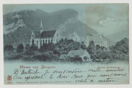 CPA Autriche Gruss Aus Bregenz Kloster Riedenburg 1899 Timbre Près Lindau Kennelbach Lauterach Wolfurt Lochau - Bregenz