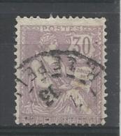 FRANCE-  N°YT 128 OBLITERE - VARIETE DE PIQUAGE SUR FILET SUD - 1902 - COTE: 20.00€ - France