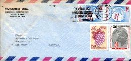 CHILI. N°404-5 De 1973 Sur Enveloppe Ayant Circulé. Vin Du Chili. - Wines & Alcohols