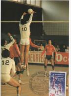 CP  PREMIER CHAMP DU MONDE VOLLEY PARIS 1986 RARE - Volleyball