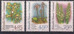 Greenland 1996 Orchids II,  Mi 284-286, MNH(**) - Grönland