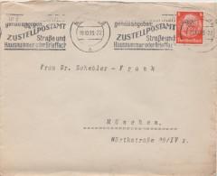 Briefumschlag Brief Deutsches Reich 1933 München Briefmarke Hindenburg 8 Pfennig - Briefe U. Dokumente