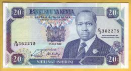 KENYA - Billet De 20 Shillings. 1-07-1989. Pick: 25b. SUP+ - Kenya