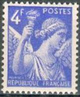 France -1944 - Type Iris 4 F. Bleu - Y&T N° 656 ** Neuf Luxe 1er Choix (gomme D´origine Intacte). - 1939-44 Iris