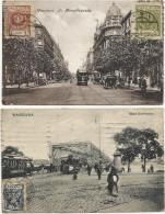 VARSAVIA (Warszawa) - SPLENDIDO Lotto 8 Antiche Cartoline Animate - Tram   Fp - Poland