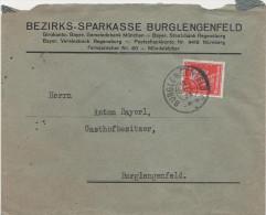 Briefumschlag Brief Deutsches Reich 1928 ? Bezirks Sparkasse Burglengenfeld Anton Bayerl Briefmarke Kant 15 Pfennig - Deutschland
