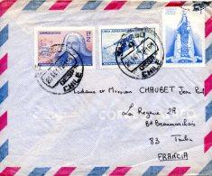 CHILI. PA 233 De 1966 Sur Enveloppe Ayant Circulé. Ski. - Skiing