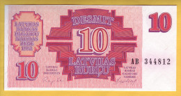 LETTONIE - Billet De 10 Rublu. 1992. Pick: 38. NEUF - Lettonie