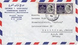 JORDANIE LETTRE  POUR L´ALLEMAGNE 1953 - Jordan
