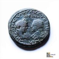 Bronce Colonial - Caracalla Y Julia Domna - Romanas