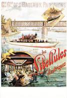 COMPAGNIE GENERALE DES BATEAUX PARISIENS-REPRODUCTION - Pubblicitari