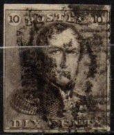 BELGIQUE - 10 C. Oblitéré TB - 1849 Epaulettes