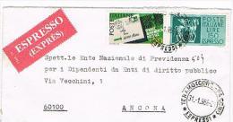 ITALIA - STORIA POSTALE - 1968 ESPRESSO DA TERAMO X L' INTERNO - RIF. 3095 - 1946-.. République