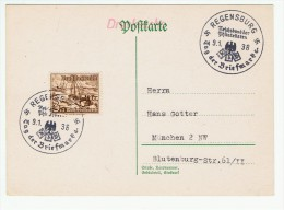 Allemagne / Journée Du Timbre 1938 /  Regensburg - Allemagne