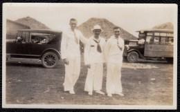 OLD PHOTO HAVANA CUBA 1928 - OLD CARS - AUTOBUS SOMEWHERE IN HAVANA 14 X 8.5 - Cuba