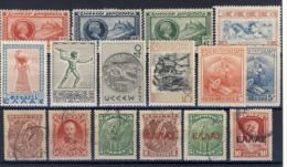 Piccolo Lotto Di 16 Francobolli Su Cartoncino - Vedi Elenco - Collections