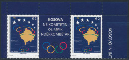 REPUBLIC OF KOSOVO 2014 Olympic Committee Pair With Label** - Kosovo