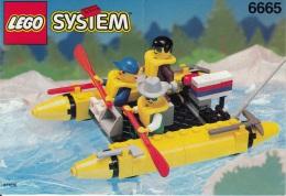 Lego 6665 Canoë Raft Avec Plan 100 % Complet Voir Scan - Lego System