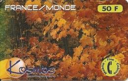 CARTE-PREPAYEE-50F-KOSMO S-FEUILLAGE-09/09/1999-70 000ex-TBE - Autres Prépayées