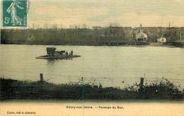ROSNY SUR SEINE PASSAGE DU BAC TOILEE COULEUR - Rosny Sur Seine