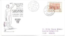 68414)F.D.C  - JACOPO TATTI  DETTO SANSOVINO -26-9-1970 - 6. 1946-.. Republic